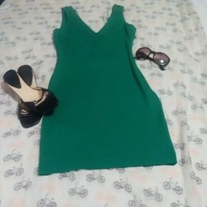 Zara Trafaluc green bodycon dress